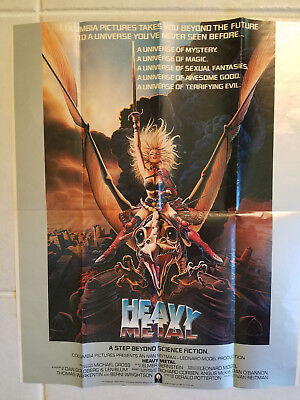 Taarna Heavy Metal Movie Original Poster Achilleos Art From 1981 23 x 18 - HTF