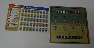 AXIS & ALLIES Board Game 1984  Replacement 2 Game Play Reference Charts
