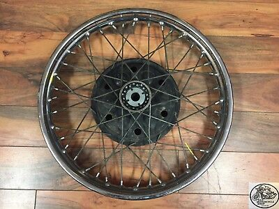 "1968 Bsa B44 Front Wheel 8"" Half Width Hub Wm2-19 Jones Rim Oem"