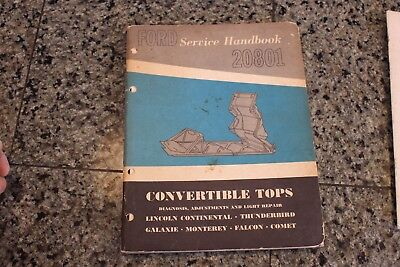 1961 1962 1963 lincoln convertible top shop service repair manual rh picclick co uk Continental 1964 Lincoln 1961 Lincoln Continental