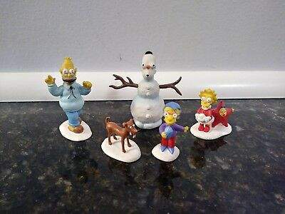 Simpsons Christmas Village Figures Hawthorne Snow Daze