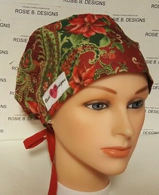 On Christmas Time   /pixie Hat / Scrub / Medical Surgical / Cap /chemo