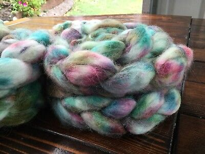 Hand Dyed  Baby Alpaca Roving/ Tops   X 100 Grams