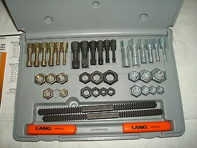 Lang 972 40 Piece Fractional and Metric Thread Restorer Kit (MISSING 1 piece)