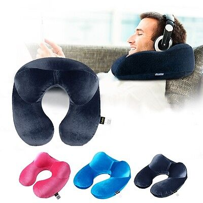 Travel Pillow Neck Inflatable Support Head U Airplanes Bus Cars Cushion Compact