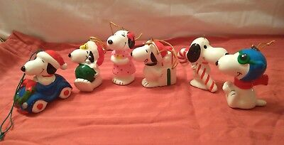 Snoopy & Belle ~ 6~  Ceramic Ornaments   Free Shipping