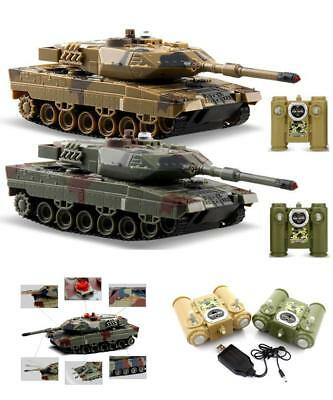 Set of 2 Remote Control Tanks RC Battle Tanks Toy Infrared US Battle Tank Gift