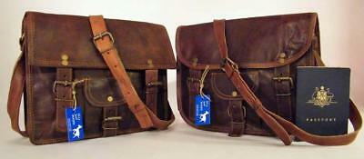 "*Discounted* Handmade Goat Leather 11"" Satchel iPad Bag SSP/R Billy Goat Designs"