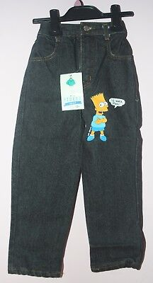Boy's Black BART SIMPSON Jeans - New with Tags - 5 years/Height - 43inches/109cm