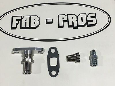 -4AN OIL FEED & BARB RETURN Flange Borg Warner S400 SX SX-E S200 S300 S200-SXE