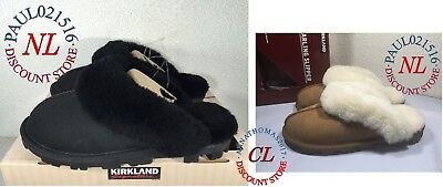 Kirkland Signature Womens Genuine Shearling Slippers Various Sizes Colors- WARM