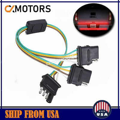 4 WAY TRAILER Plug Wiring Harness Y Adapter Converter Splitter for F Trailer Wiring Harness Adapter on
