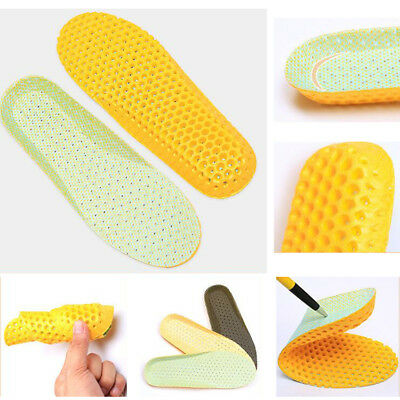 Washable Women Men Heel Cushion Orthotic Sport Shoes Insoles Foot Pads 1 Pair