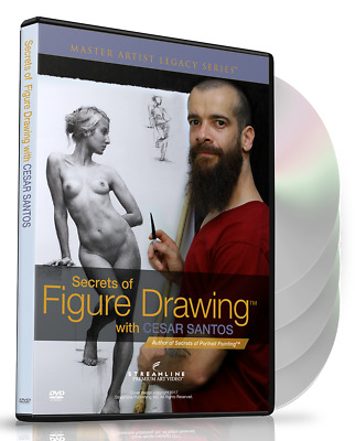 NEW Cesar Santos: Secrets of Figure Drawing - Art Instruction DVD
