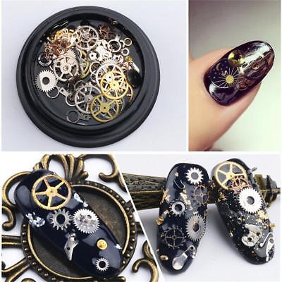 Beautiful 3D Nail Art Gear Wheel Tips Decoration Sequins Manicure Decor