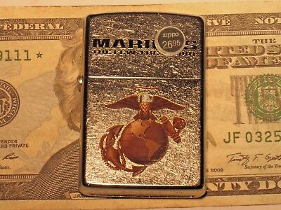 New ZIPPO Windproof USA Lighter United States MARINE CORP The Few The Proud 207