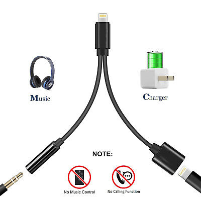 Lightning Jack to 3.5mm Headphone Adapter Earphone Charger for Apple iPhone X 8