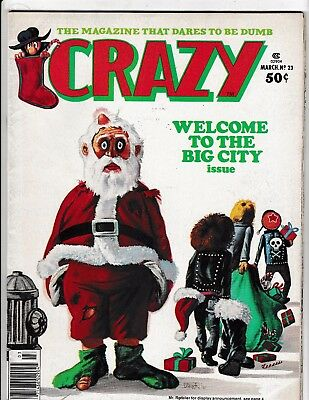 CRAZY #23 (FN) Santa Claus gets Robbed 1977 Marvel Satire Humor Magazine