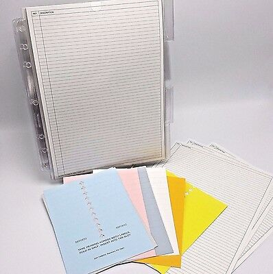"Day-Timers 8.5x11"" Reports refill 91860 Planner Description sheets sleeves tabs"