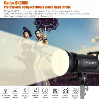 US Godox SK300II 300W Photography 2.4G X System Studio Flash Strobe Light Head