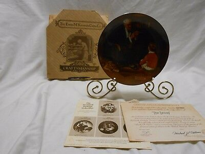 Norman Rockwell 1982 The Tycoon Knowles Limited Edition Plate Bradford Exchange