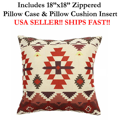 """18x18 18""""x18"""" Ethnic Culture AZTEC Mexico Mexican Throw Pillow Case & Cushion"""