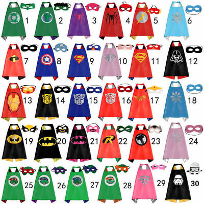 (1cape+1mask) Cape for kid birthday party favors and ideas Kids Superhero Sets..