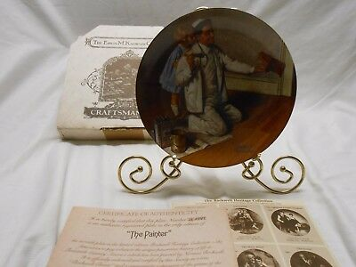 Norman Rockwell 1983 The Painter Knowles Ltd. Edition Plate Bradford Exchange