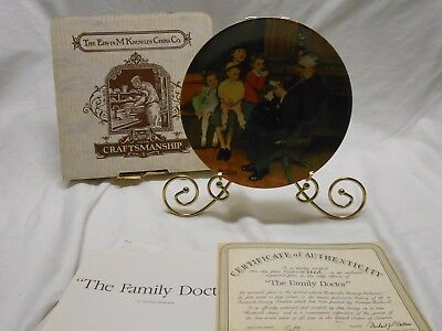 Norman Rockwell 1992 The Family Dr. Knowles Ltd. Edition Plate Bradford Exchange