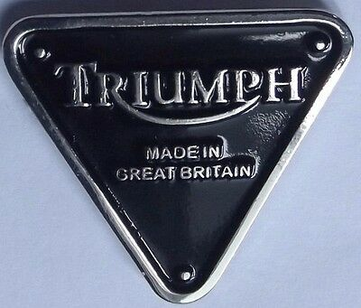 Lapel Pin Badge~ Triumph timing case logo.    B011102
