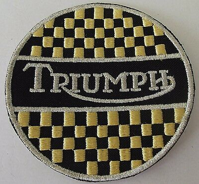 Embroidered cloth patch ~ Triumph checks  .    B041001