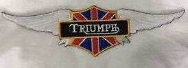 Embroidered cloth back  patch ~ Triumph wings ~