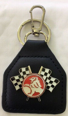 Leather Key Fob ~ Holden Lion Racing Flags ~      C030902F