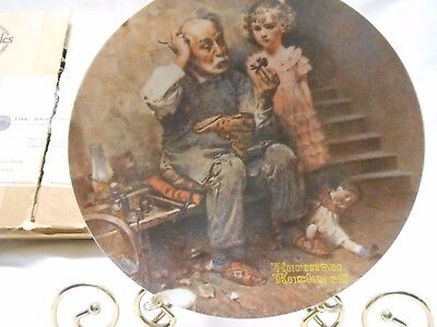 Norman Rockwell 1978 The Cobbler Knowles Ltd. Edition Plate Bradford Exchange