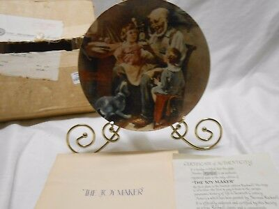 Norman Rockwell 1977 The Toy Maker Knowles Ltd. Edition Plate Bradford Exchange