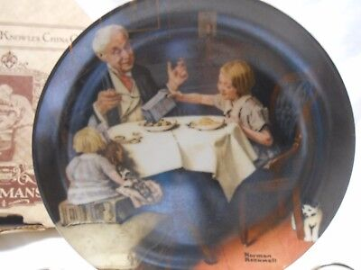 Norman Rockwell 1985 The Gourmet Knowles Ltd. Edition Plate Bradford Exchange