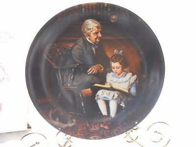 Norman Rockwell 1991 Young Scholar Knowles Ltd. Edition Plate Bradford Exchange