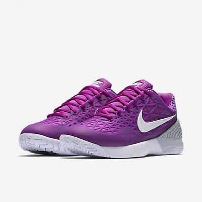 wholesale dealer a4090 183cf New Womens Nike Zoom Cage 2 (Whiteblkhyp Vio) Tennis Shoes
