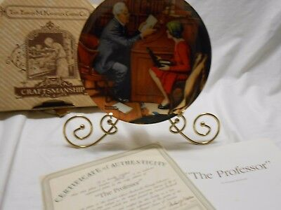 Norman Rockwell 1986 The Professor Knowles Ltd. Edition Plate Bradford Exchange