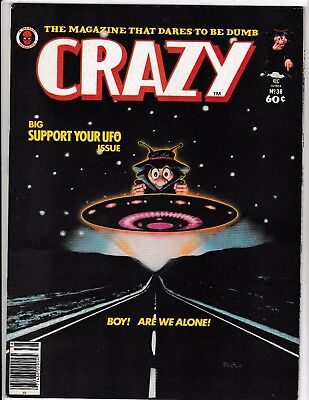 CRAZY #38 (VF/NM) CLOSE ENCOUNTERS COVER! Satire Humor Marvel Magazine 1978
