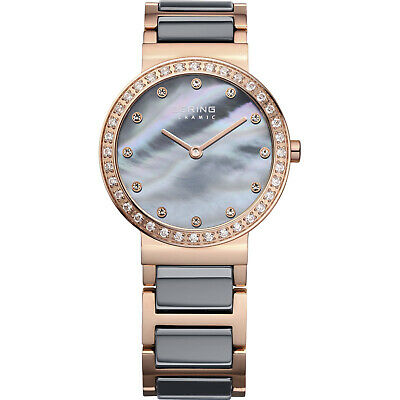 BERING Time 10729-769 Womens Ceramic Collection Watch with Stainless steel Band