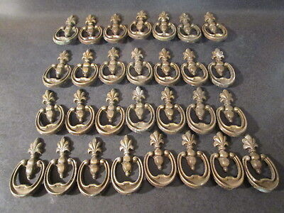 Ornate Brass Drawer Pull Lot - Lot of 29 Ornate Brass Drawer Pulls -