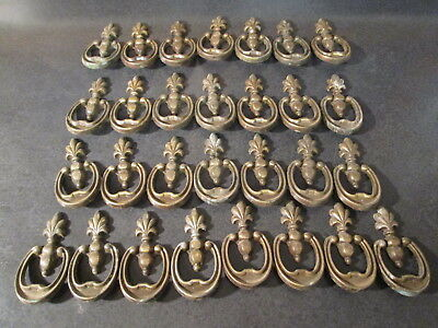Ornate Brass Plated Drawer Pull Lot - Lot of 29 Brass Plated Drawer Pulls -