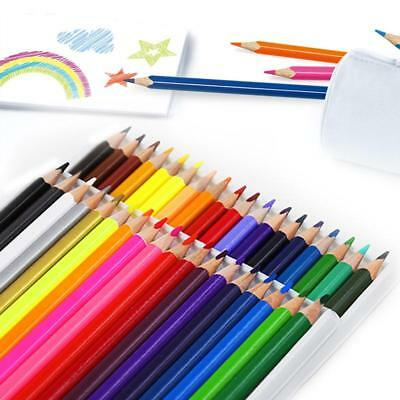 36 x LARGE COLOURED PENCILS PACK School Stationery Children/Kids Art Set BULK