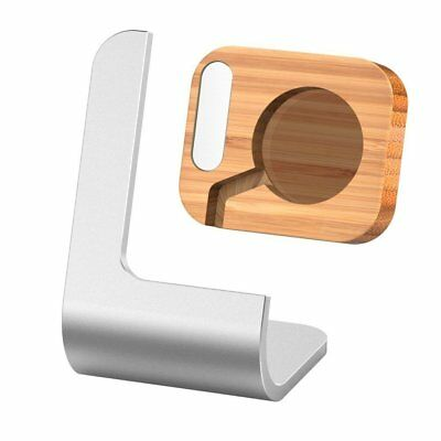 Kollea Aluminum Apple Watch Stand Charging Station Bracket Docking Cradle Bamboo