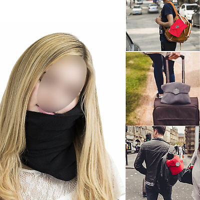 Travel Pillow super soft neck Support for Flight and Soft Nap Scarf Pillow
