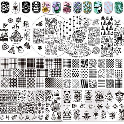 Born Pretty Nail Art Stamping Plates Christmas Flowers  Image Templates