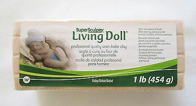SUPER SCULPEY - LIVING DOLL - Polymer Clay - 454g - BABY