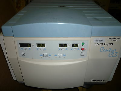 Used Working -- IEC Centra CL3 Centrifuge -- No rotor/buckets