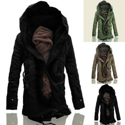 Mens Military Trench Coat Ski Jacket Outdoor Hooded Parka Thick Overcoat Winter【